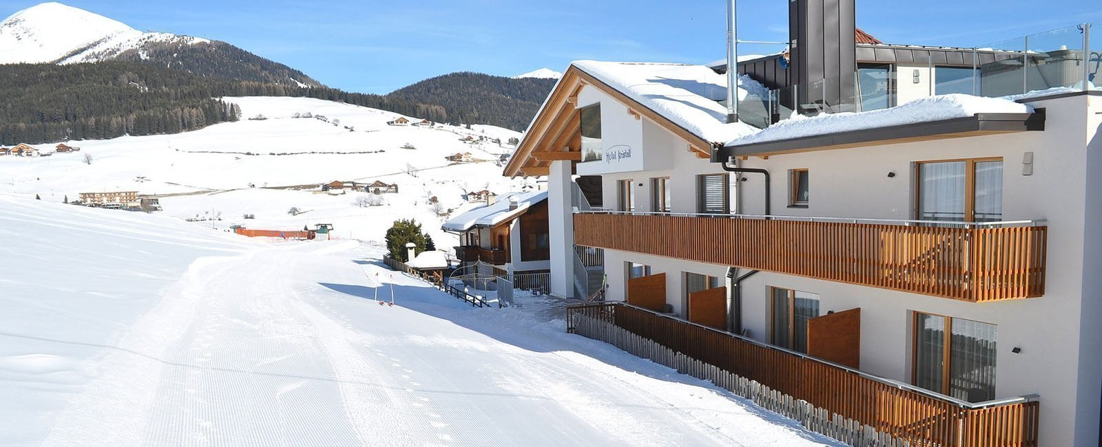 Hotel Kristall Maranza- Winter holidays South Tyrol - direct next to the Ski slope